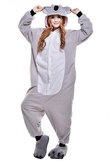 ABYED® Jumpsuit Tier Karton Fasching Halloween Kostüm Sleepsuit ...