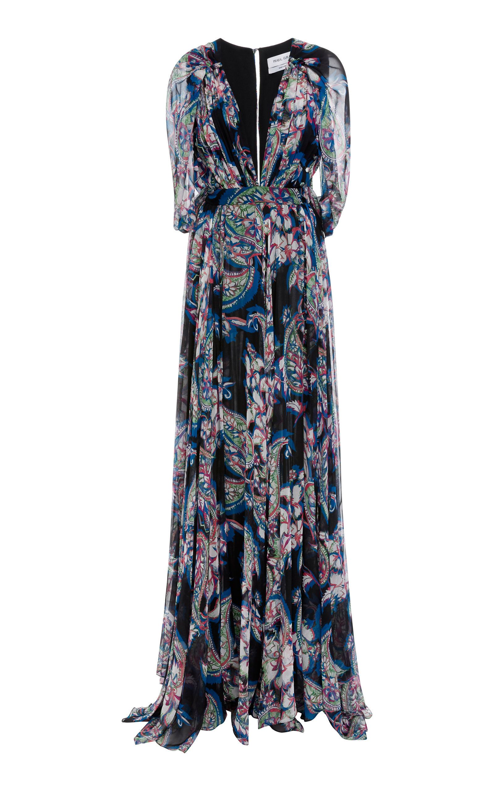 Prabal gurungprinted grecian cape gown beautiful pinterest