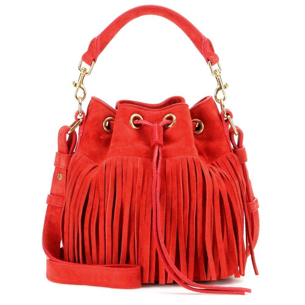 da427f33fe Saint Laurent - Classic Small Emmanuelle fringed suede bucket bag -  mytheresa.com