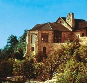 The Grand Canyon Lodge is situated at Bright Angel Point inside Grand Canyon National Park on the North Rim