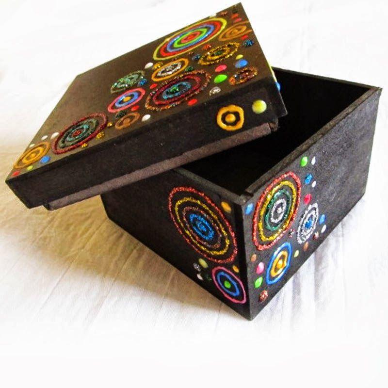 Artsy Craftsy Mom 40+ Diwali Ideas - Cards Crafts Decor DIY. Glittered gift box.  sc 1 st  Pinterest & 100+ Diwali Ideas - Cards Crafts Decor DIY and Party Ideas ...