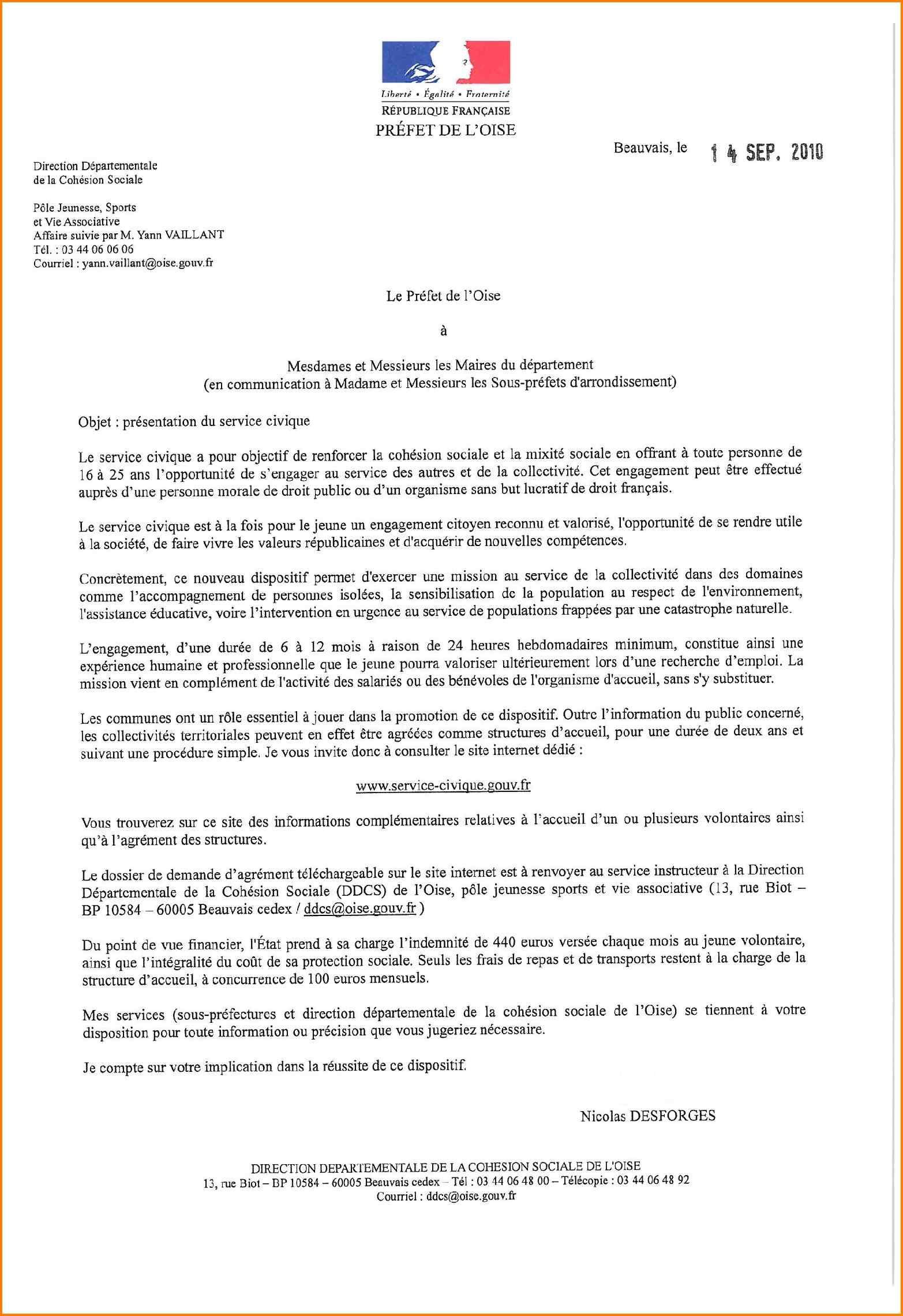 6 Exemple De Lettre Administrative Format Lettre Motivation