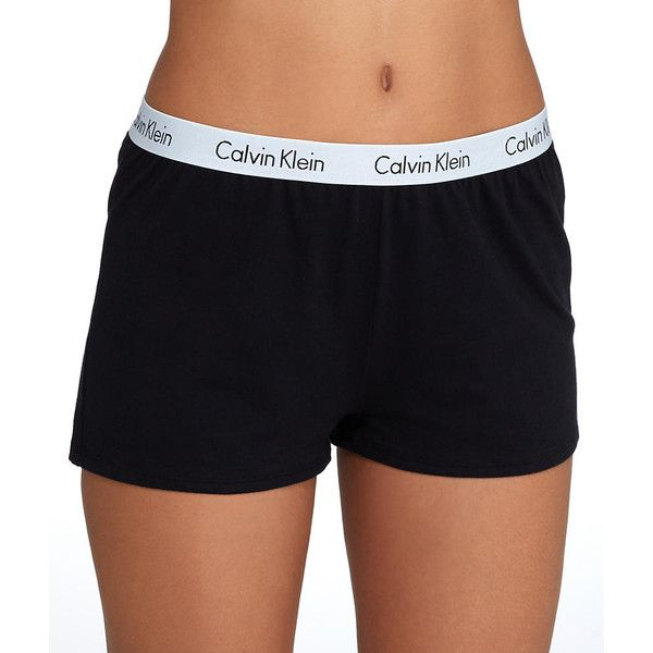 9fa665d09 Calvin Klein Shift Knit Sleep Shorts ($40) ❤ liked on Polyvore featuring  intimates, sleepwear, pajamas, short, women, knit pajamas, calvin klein  pajamas, ...