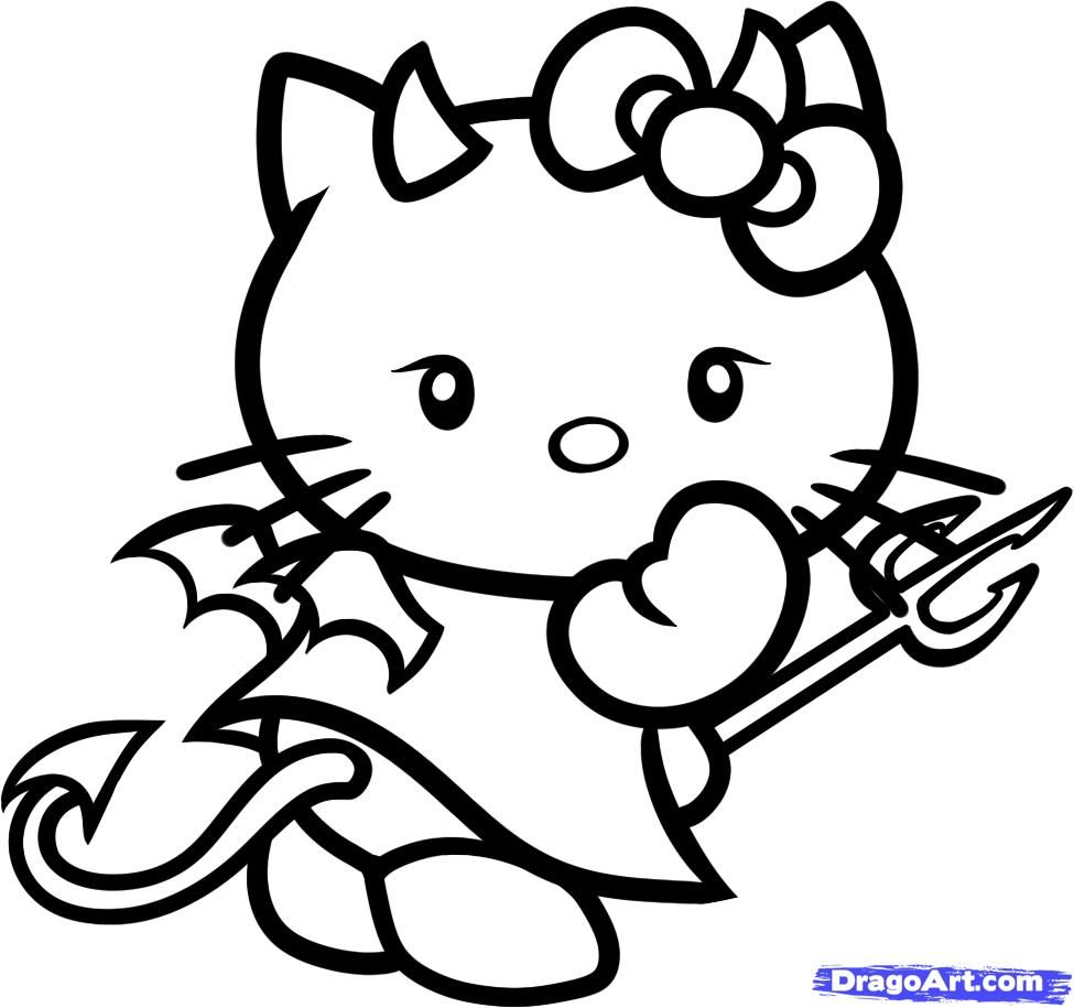 Pin On Hello Kitty Coloring Pages