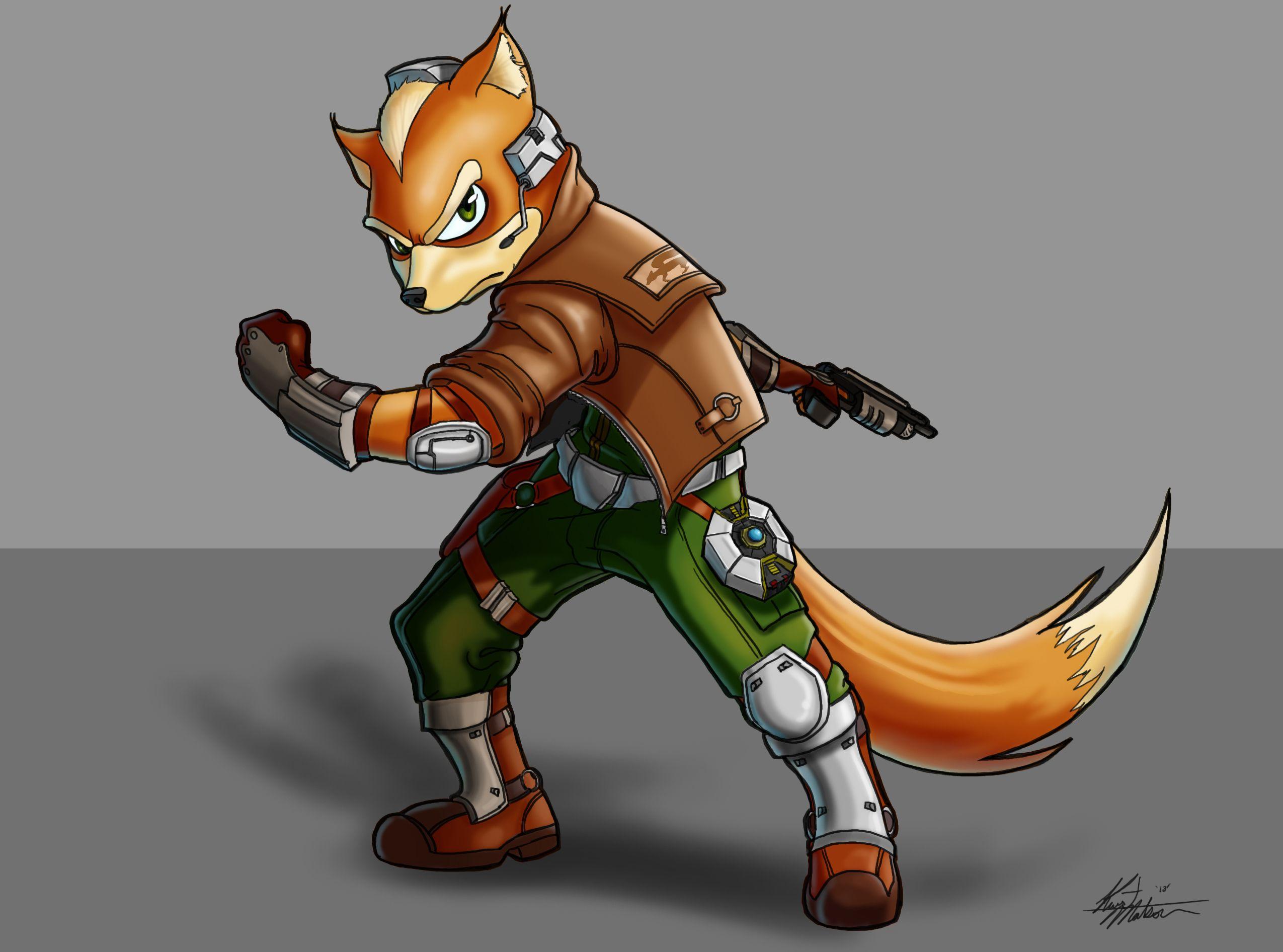 A Fan Art Of Fox Mccloud I Made For A Friend Fox Mccloud