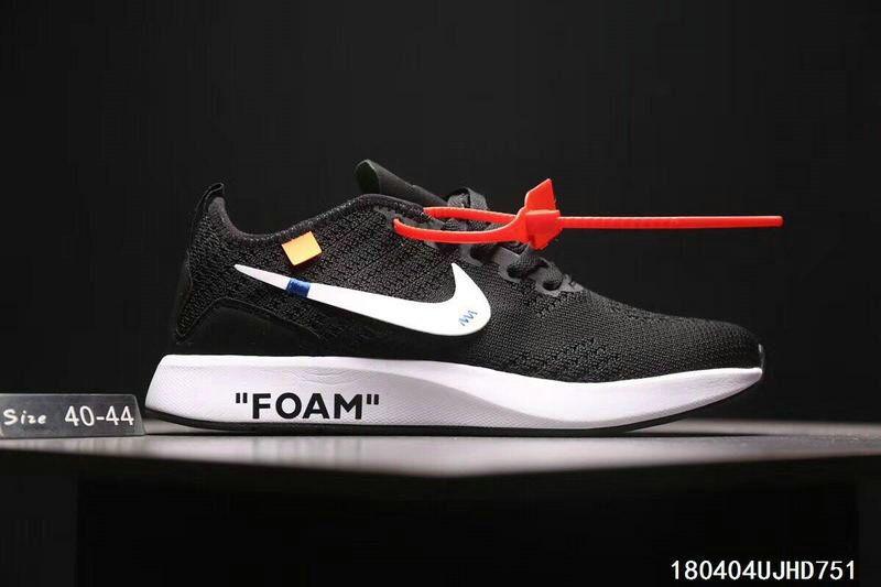 e1288cdb7229f Nike off white Mariah Flyknit Big Boys Shoe Youth Racer Black White ...