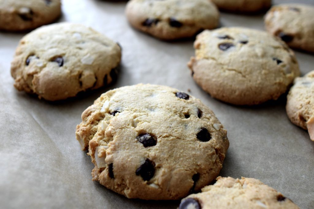 gluten free dairy free chocolate chip cookies coconut flour