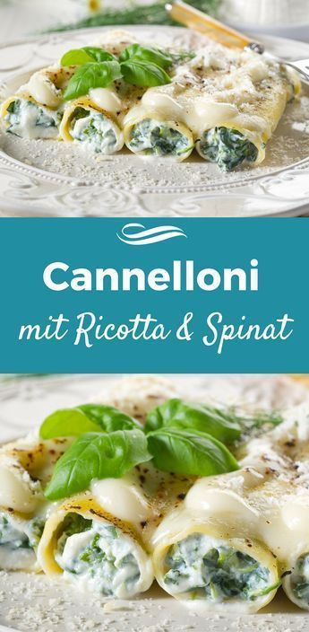 Photo of Spinach cannelloni with creamy ricotta