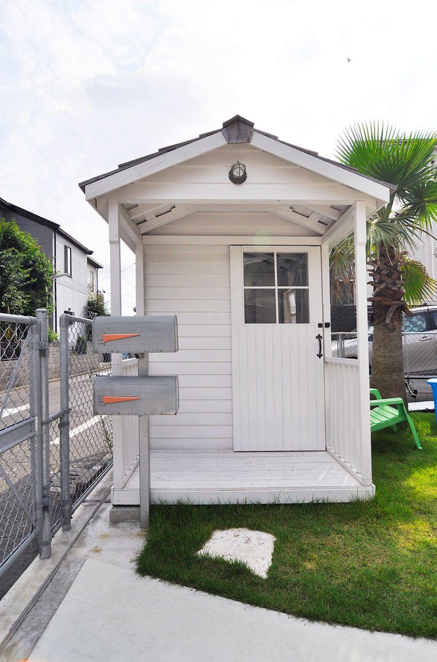 湘南のサーファーズハウス海を気持ちよく楽しめるカリフォルニアスタイルの家 小さなポーチ サーファーズハウス 家