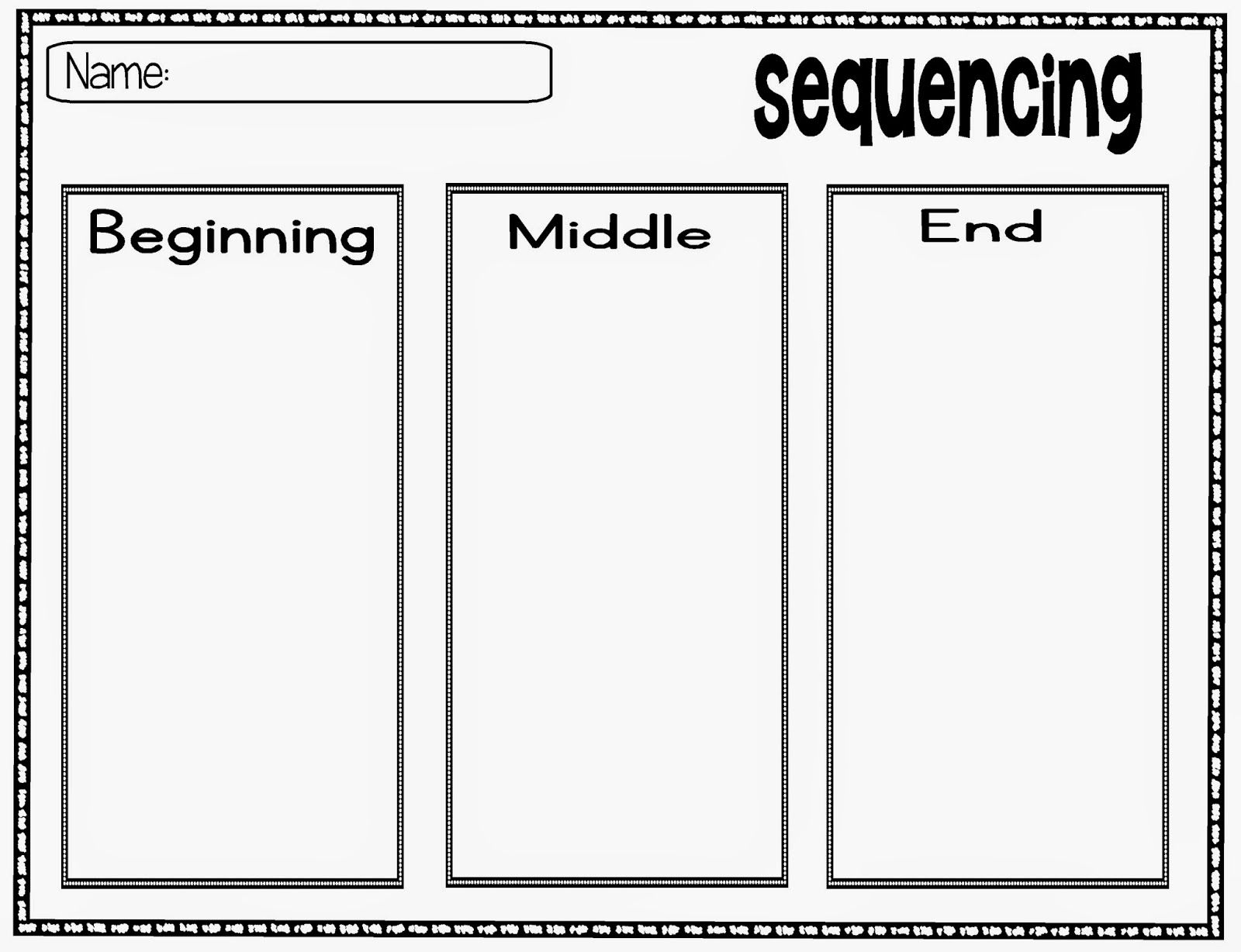 Close Reading With Wordless Books Beginning Middle End Graphic Organizers Wordless Book [ 1228 x 1600 Pixel ]