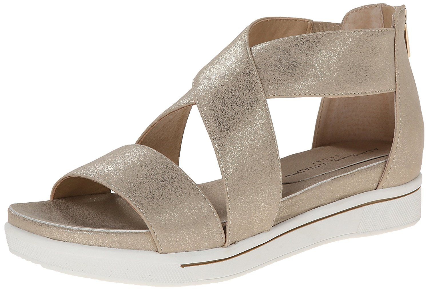 9e1f733fde9 Adrienne Vittadini Footwear Women s Claud Flat Sandal -- Wow! I love this.  Check it out now!   Gladiator sandals