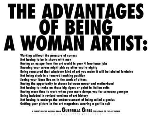of the Day: Advantages of Being a Woman Artist