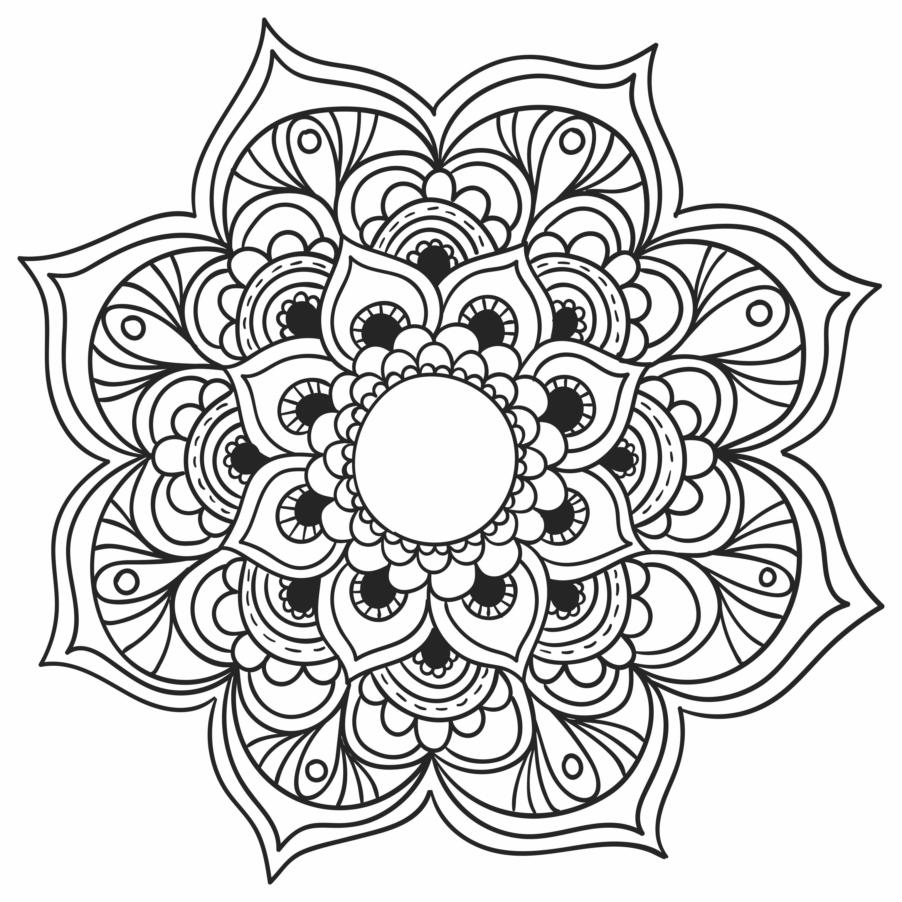 Imagens de Mandalas para você baixar, imprimir e colorir