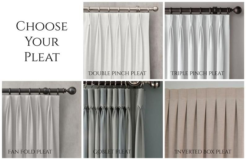 Add Pleats To Your Drapes Triple Pinch Pleated Curtains Fan Etsy In 2020 Pinch Pleat Curtains Pleated Curtains Pinch Pleat Curtains Diy