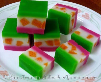 Sinar Kehidupanku Kuih Talam Steamed Cake Food Fruit