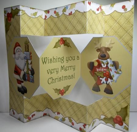 TriFold Shutter Card Tutorial \u2013 new! With room to write! Sandy Allnock