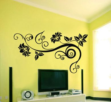 Want To Put Something Like This In Our Hallway With Some Pictures - How do you install a wall decal suggestions