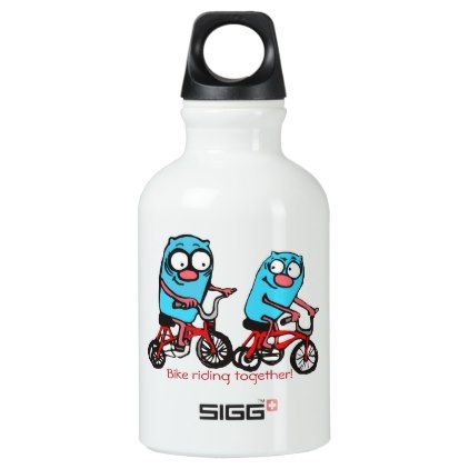 Love bike riding together aluminum water bottle - love gifts cyo personalize diy