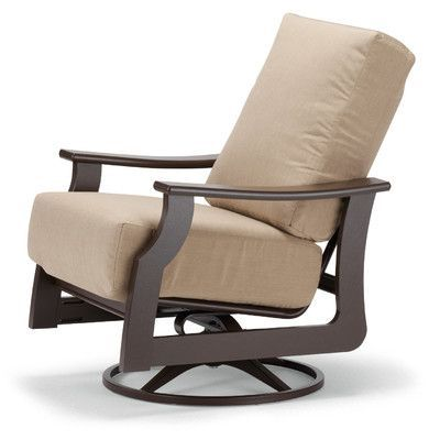 Telescope Casual St. Catherine Swivel Rocking Chair With Cushions Fabric:  Champagne, Finish: