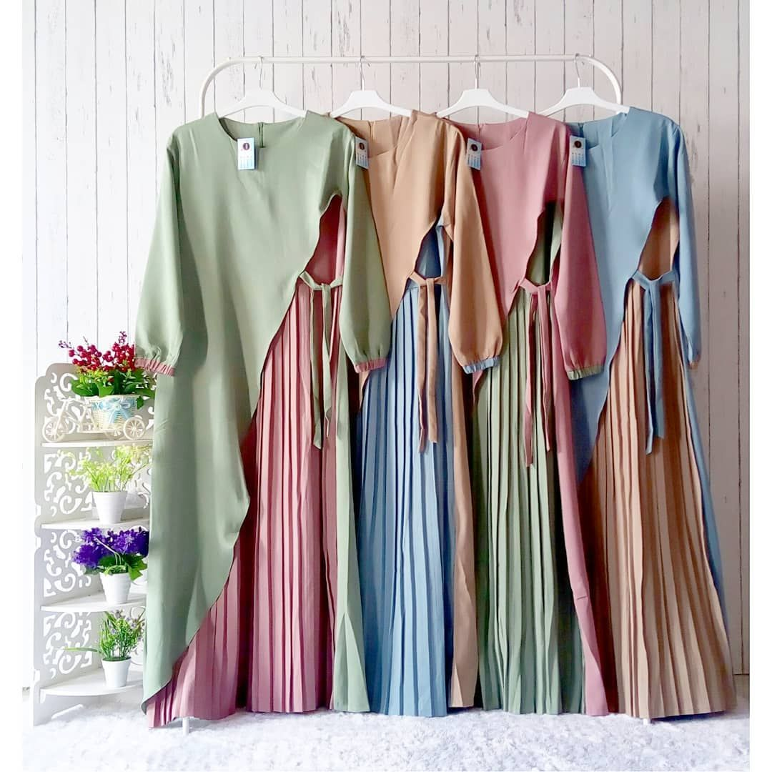 Gamis Plisket - Kode  Muslim fashion, Muslimah dress, Abaya fashion