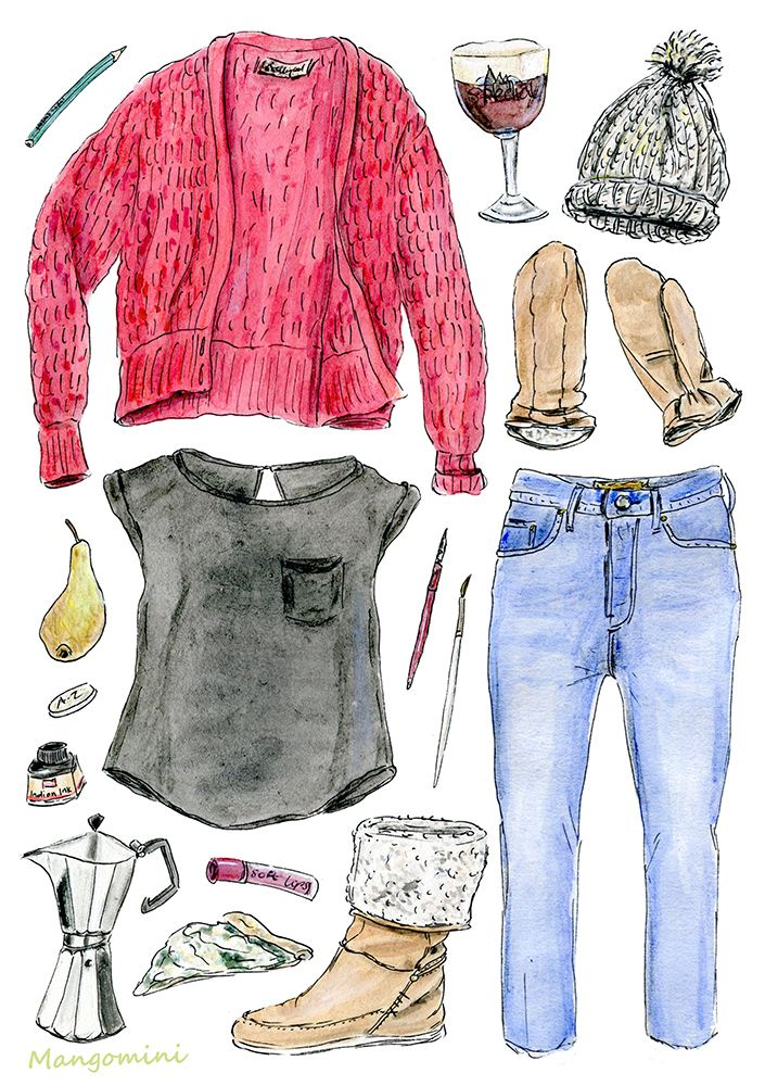 January Cold Drawing clothes, Nice things to draw, Clothes