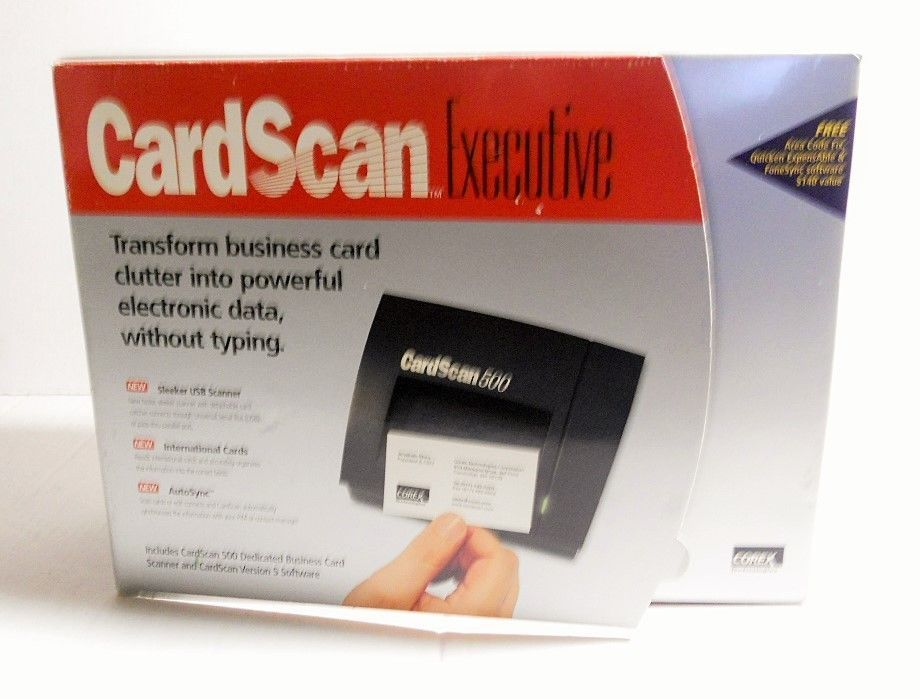 CardScan 500 Executive Business Card Scanner Version 5 USB Cable ...
