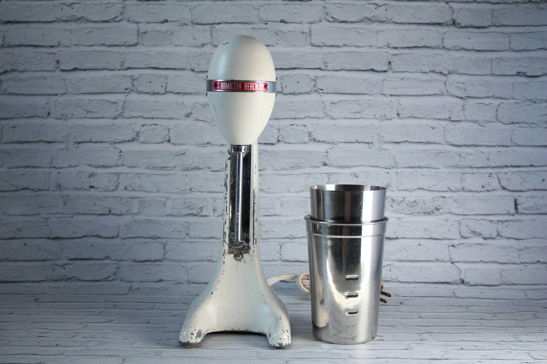 2 Piece Retro Kitchen Vintage 1950s Hamilton Beach Malted Milkshake Mixer Blender