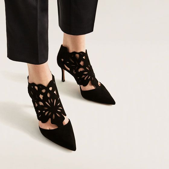 Image 6 of WRAPAROUND LEATHER HIGH HEEL SHOES from Zara