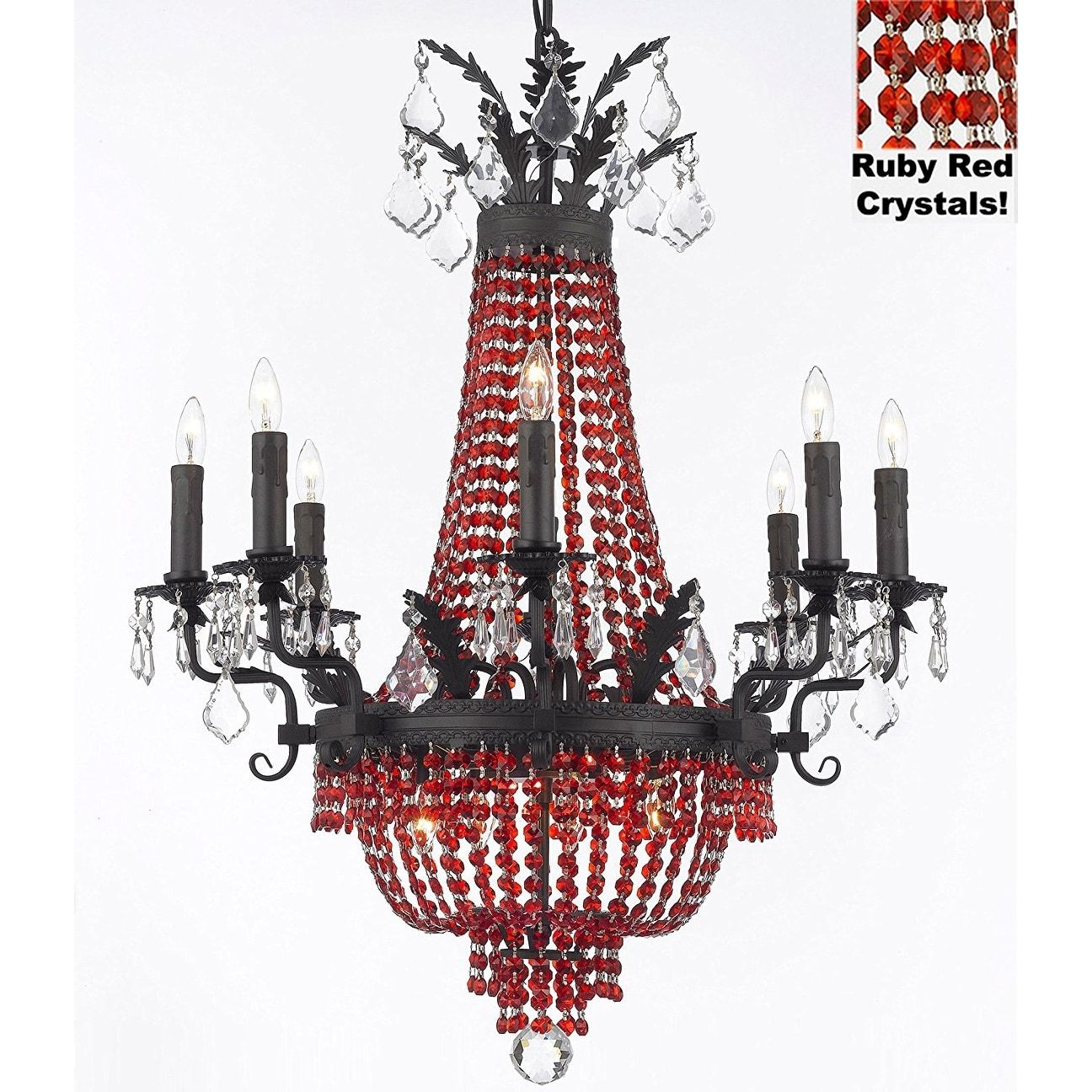 Moroccan style chandelier with red crystals clear moroccan moroccan style chandelier with red crystals overstock shopping the best deals on chandeliers pendants arubaitofo Choice Image