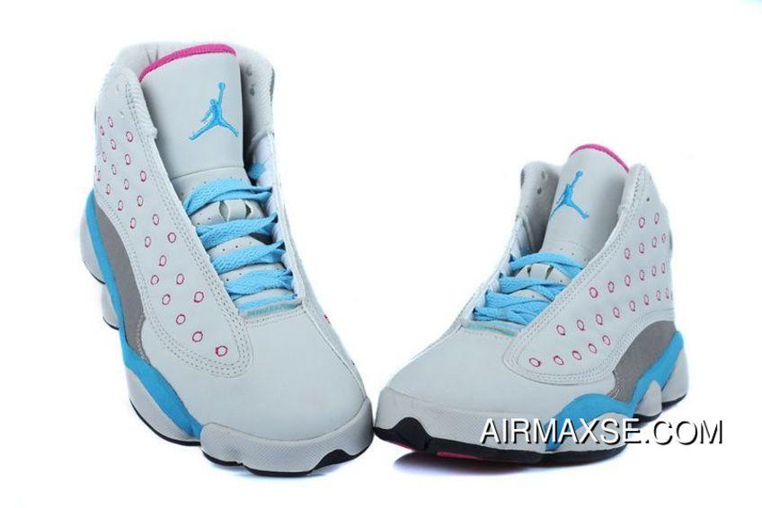 Copuon Girls Air Jordan 13 Retro White