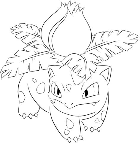 Ivysaur Coloring page | Pokemon coloring pages, Pokemon ...