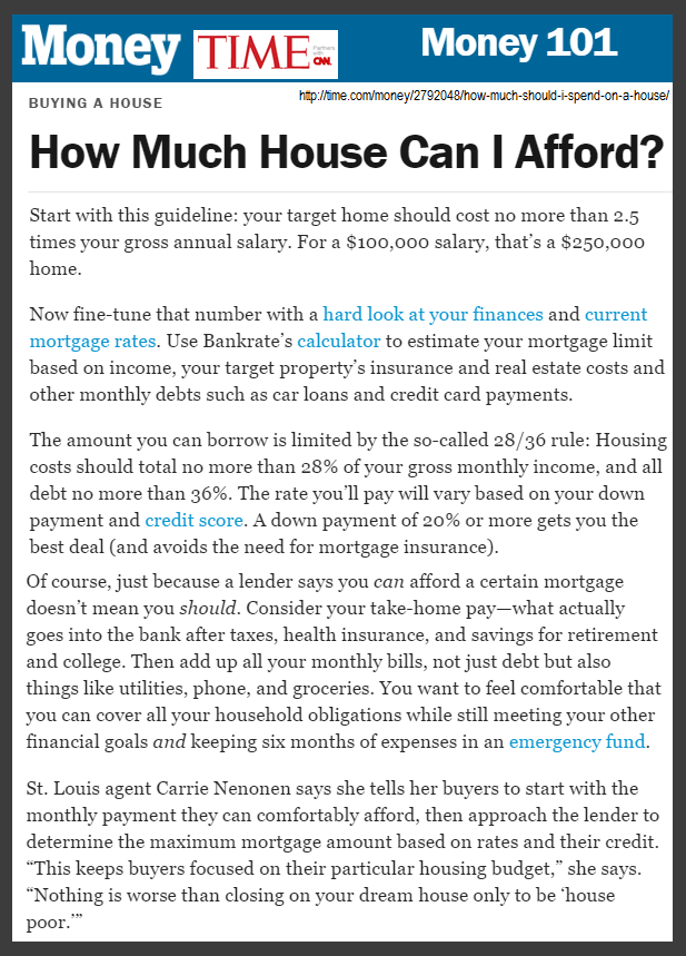How Much House Can I Afford Via Money Magazine Money Magazine Money Quotes Selling Real Estate