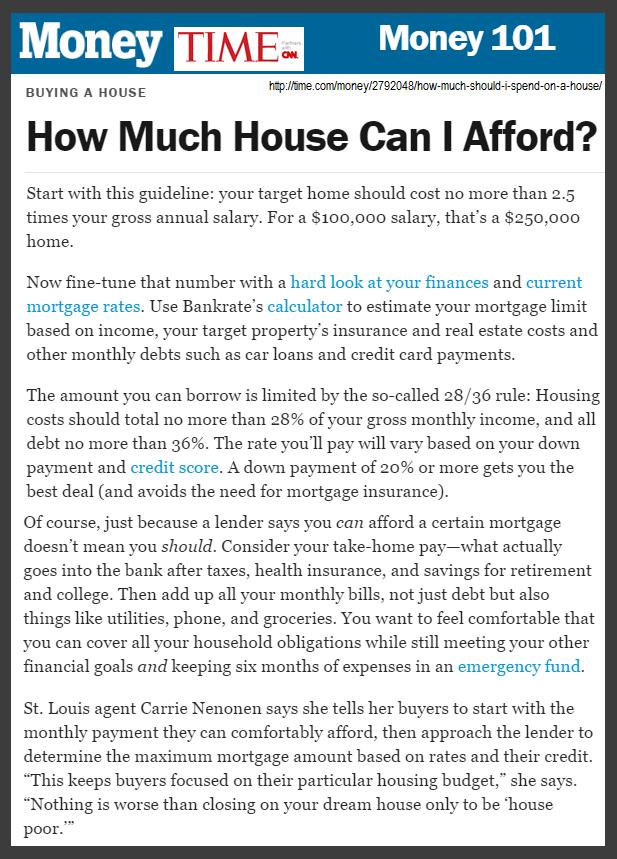 How Much House Can I Afford Via Money Magazine Money Magazine