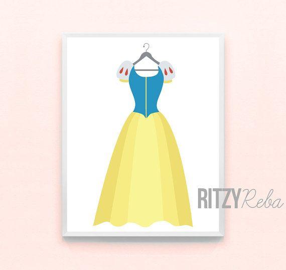 Disney Snow White Inspired Princess Girl Nursery Art Princess Print ...