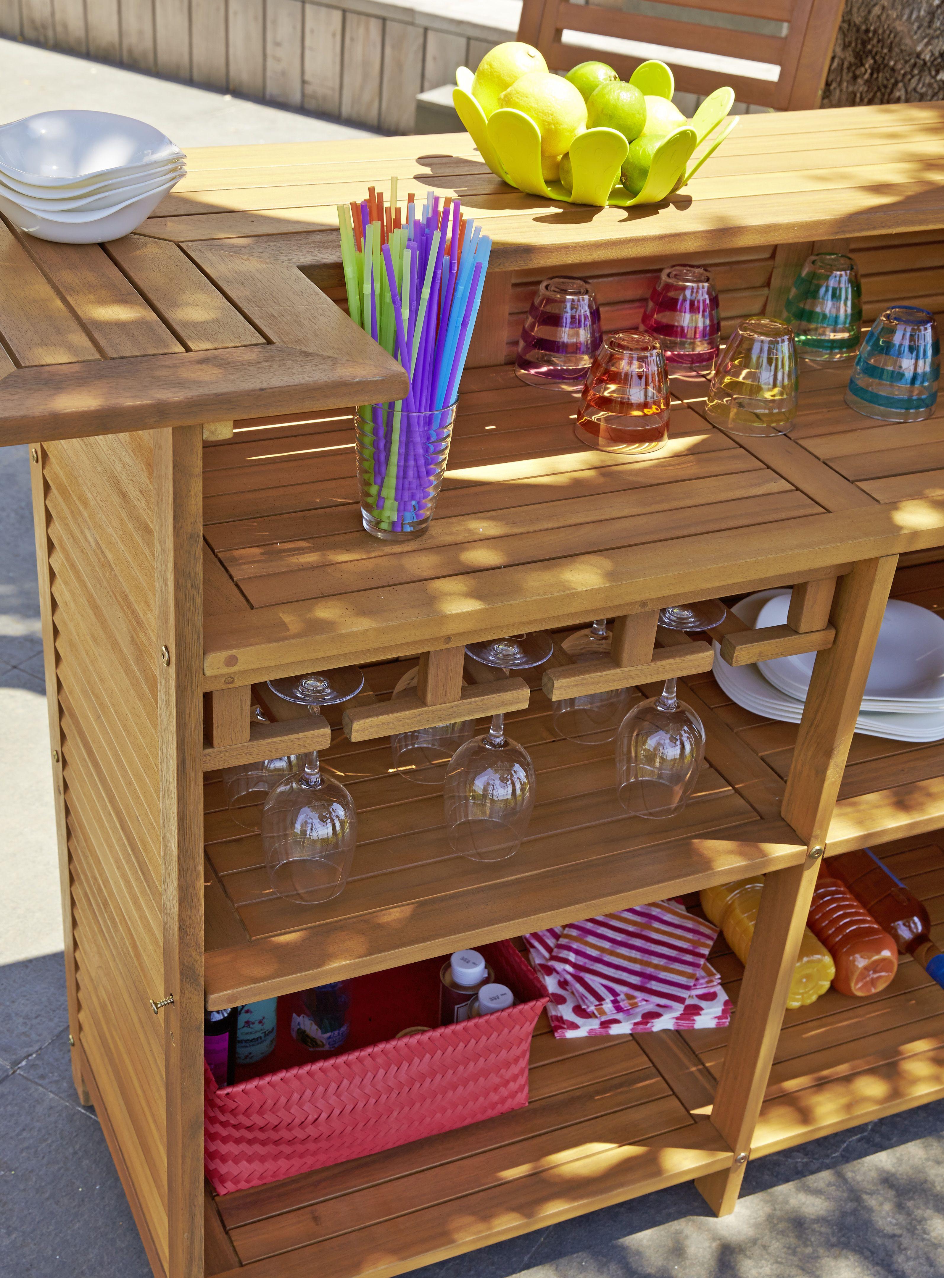 bar en acacia massif finition teint et huil dim 150x50x100 cm ambiances jardin. Black Bedroom Furniture Sets. Home Design Ideas