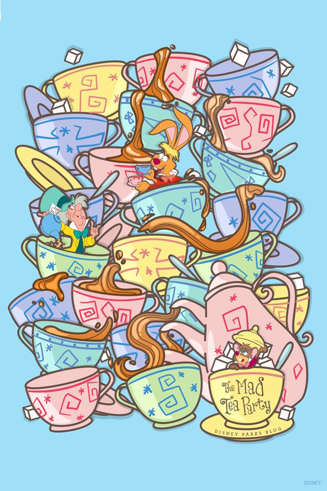 45th Anniversary Wallpaper Mad Tea Party Mobile Disney Phone