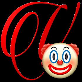 Alphabets By Monica Michielin Clown Emoticon Emoji Alphabet Png Emoji Emoticon Alphabet