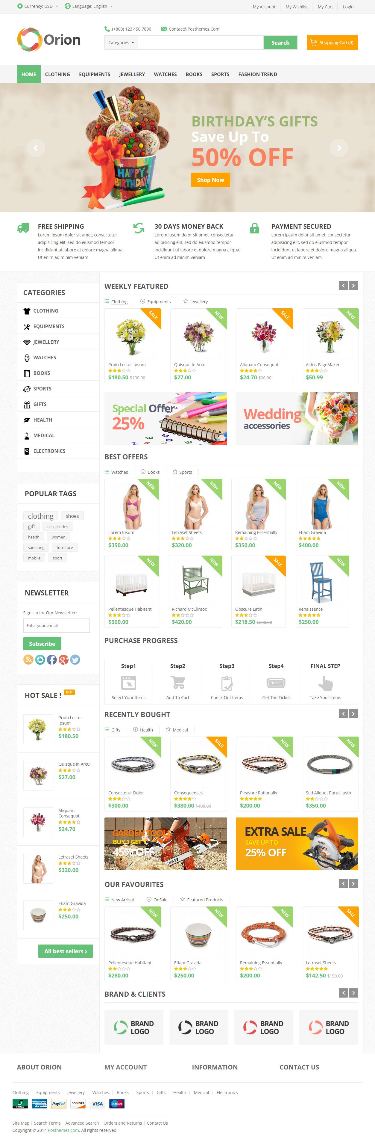 Orion is Premium full Responsive PrestaShop eCommerce Theme. Retina ...
