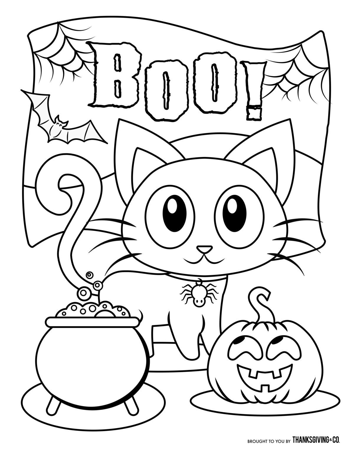 Halloween Cat Coloring Page Youngandtae Com Free Halloween Coloring Pages Halloween Coloring Book Monster Coloring Pages