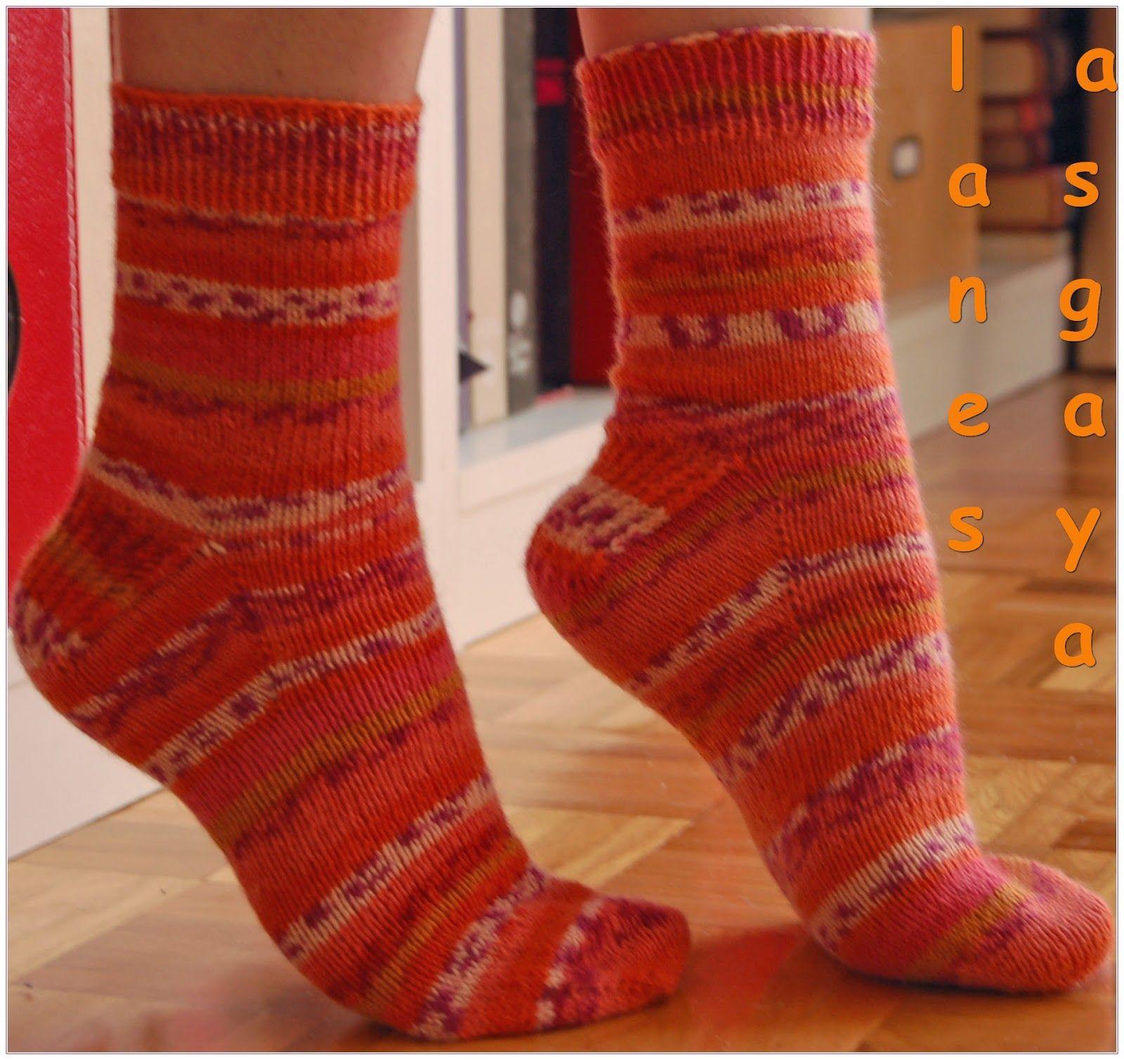 calcetines toe-up con tutorial en español | Calcetines - Medias ...