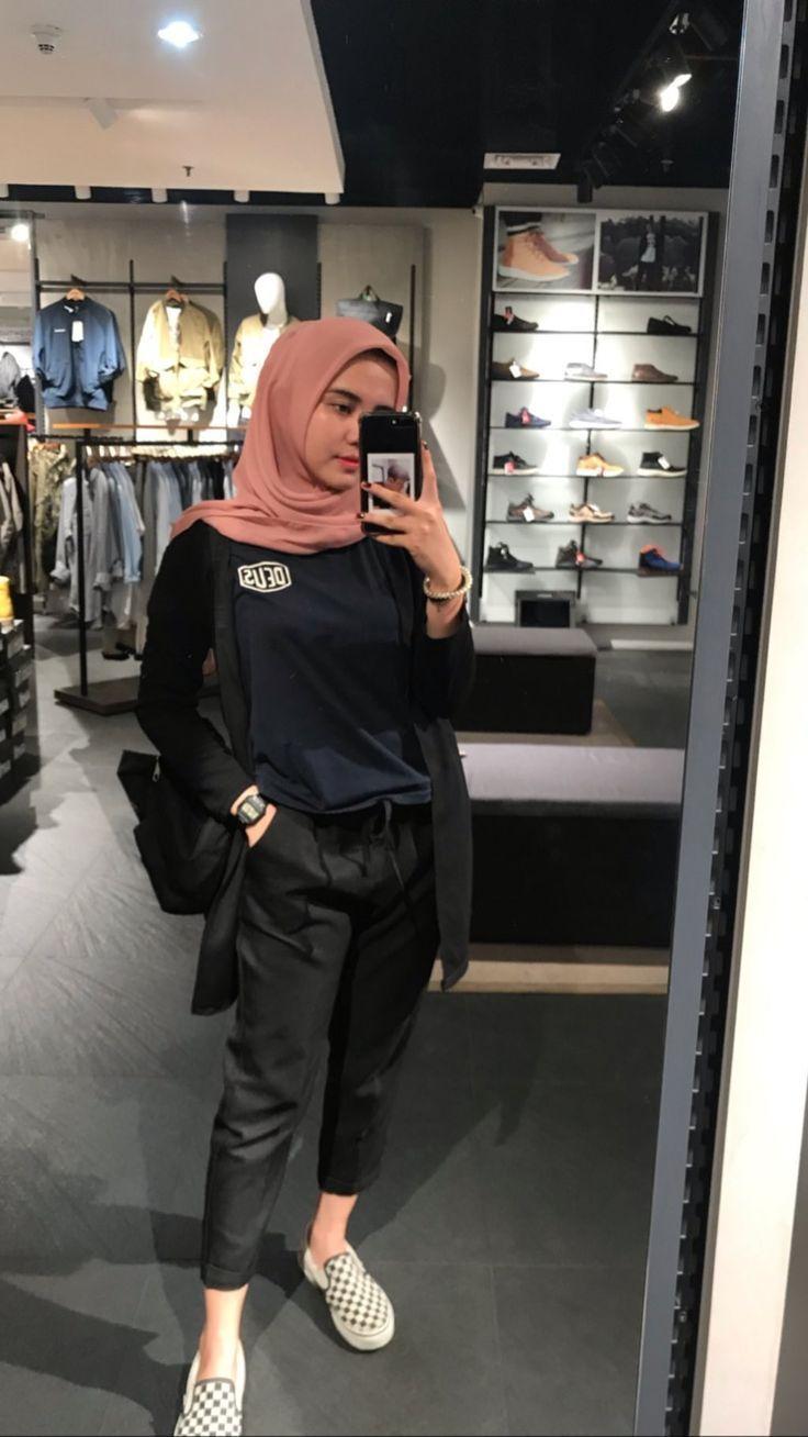 Casual Hijab Outfit Model Pakaian Remaja Wanita Model Pakaian Remaja
