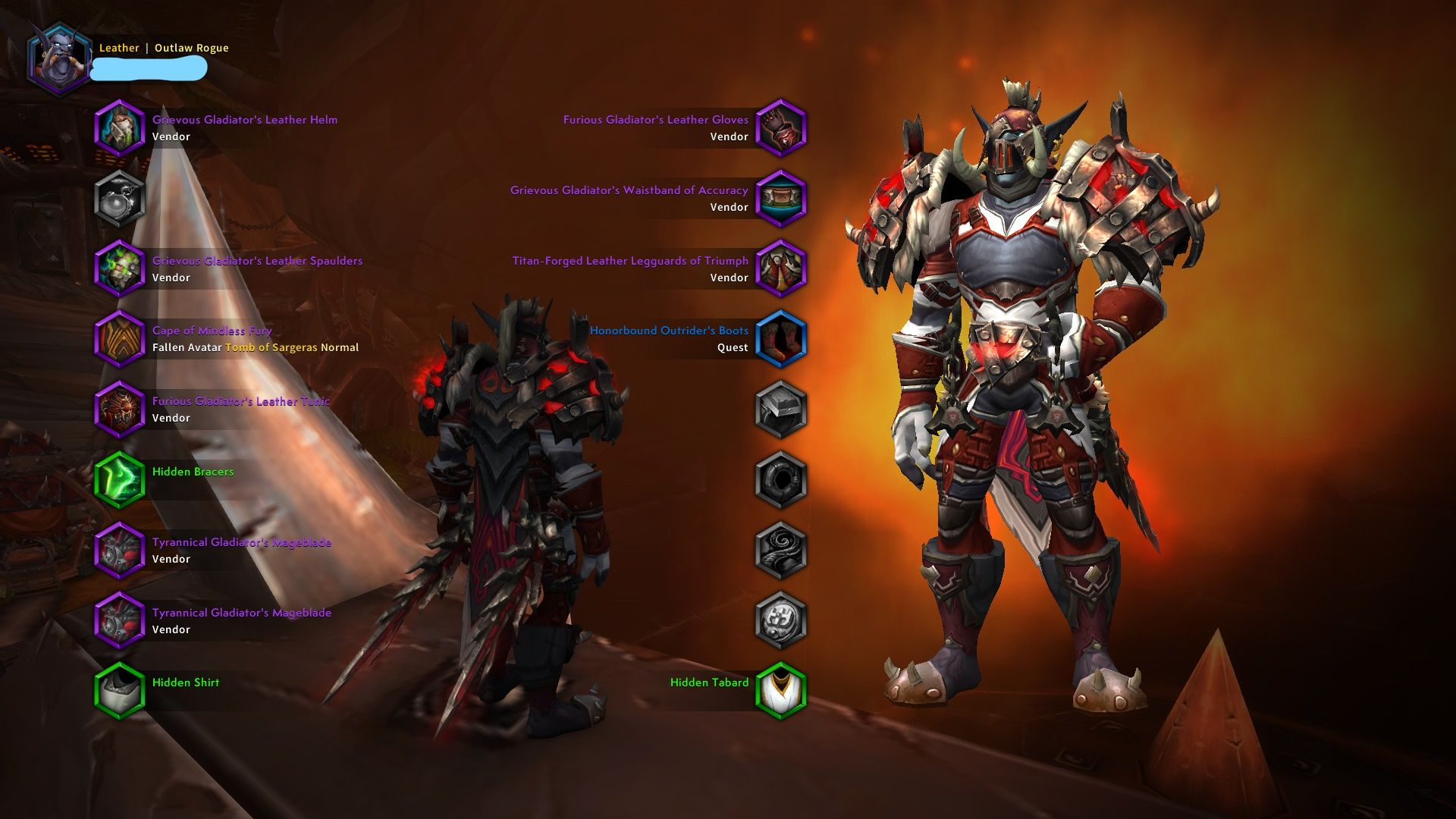 Rusty Red Blade Xmog In 2020 Red Red And White White Leather