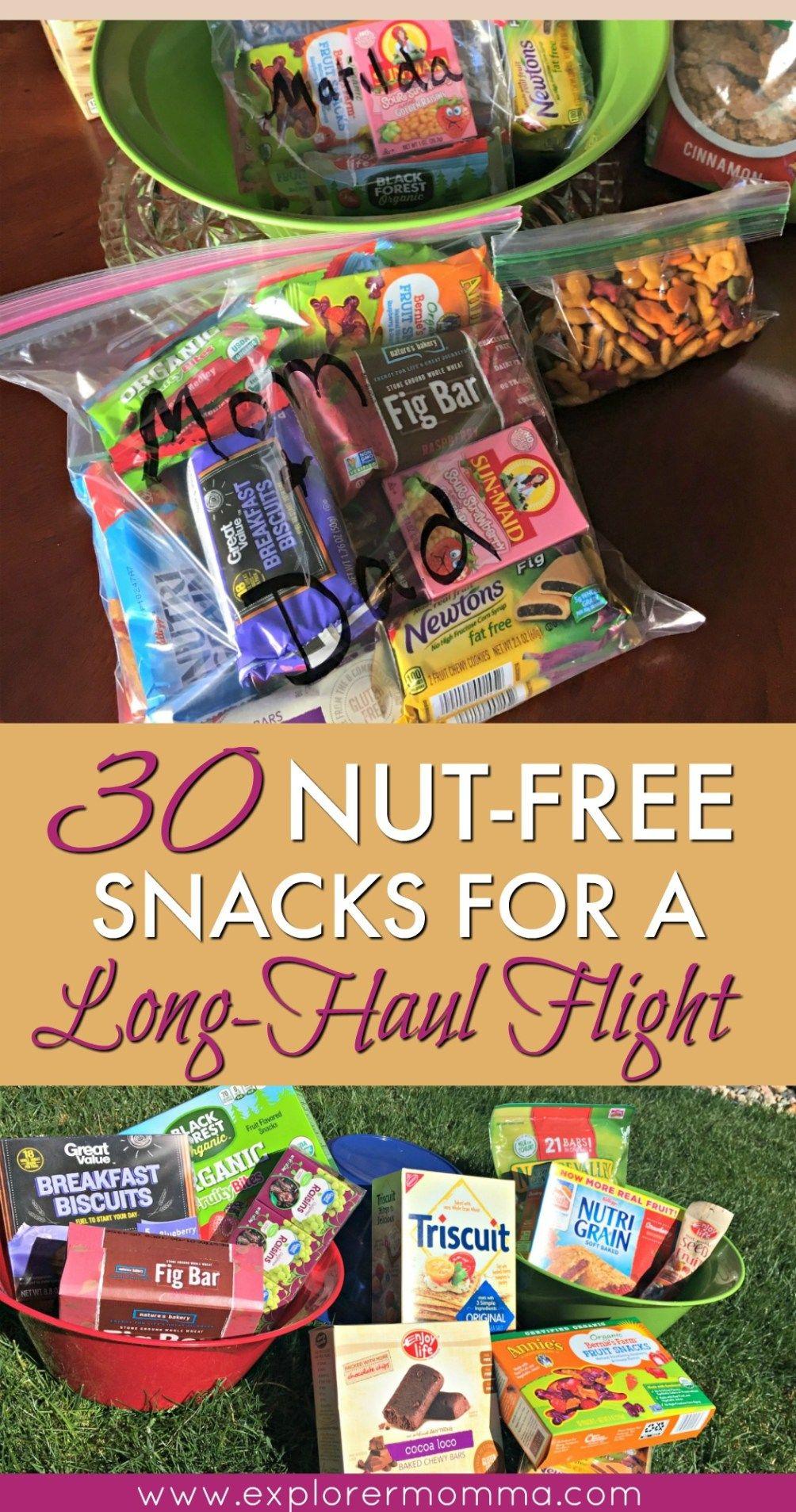 30 Nut Free Snacks For A Long Haul Flight Nut Free Snacks Healthy Travel Snacks Peanut Free Snacks
