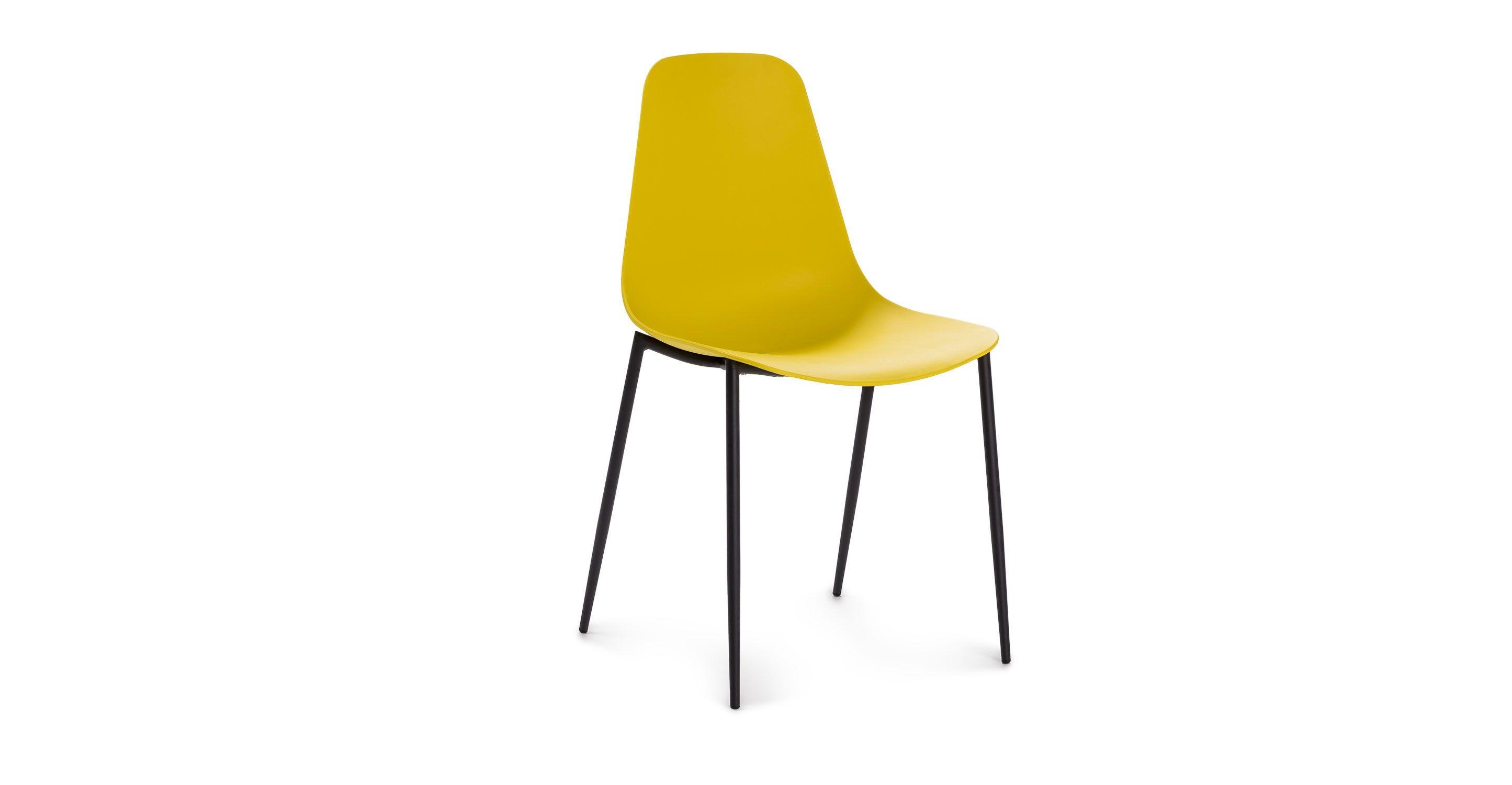 Svelti Daisy Yellow Dining Chair Yellow Dining Chairs Retro