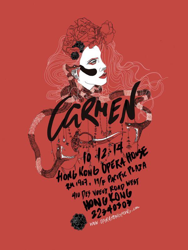 Carmen: Opera Poster by Jeff Schaap.