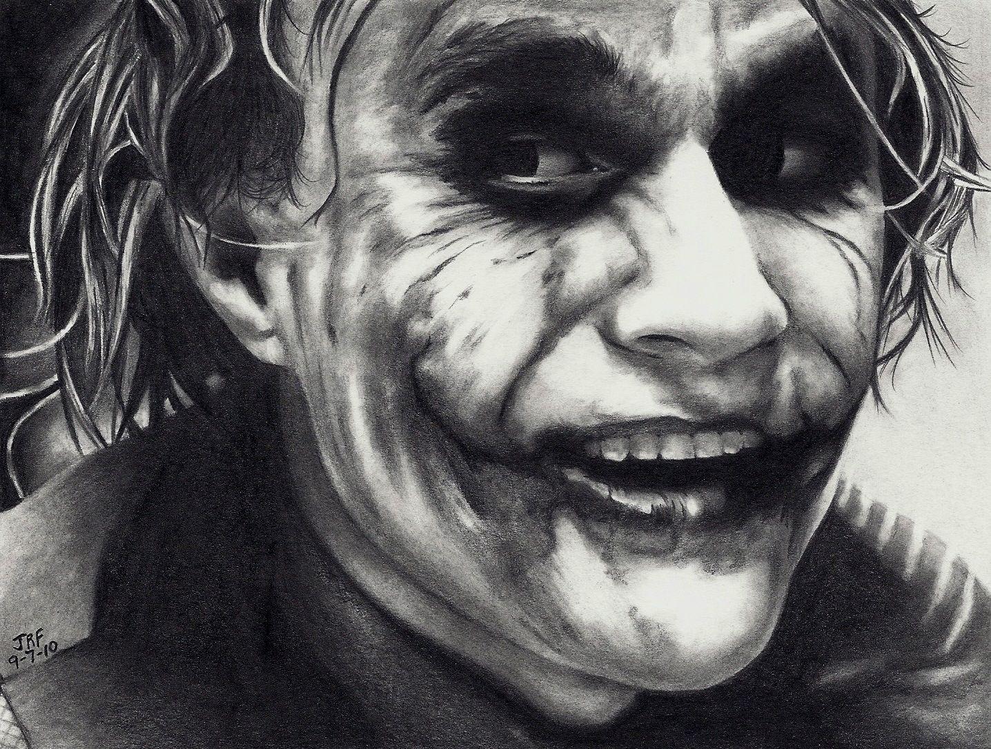 Joker Scribble Drawing : Joker pencil drawing art