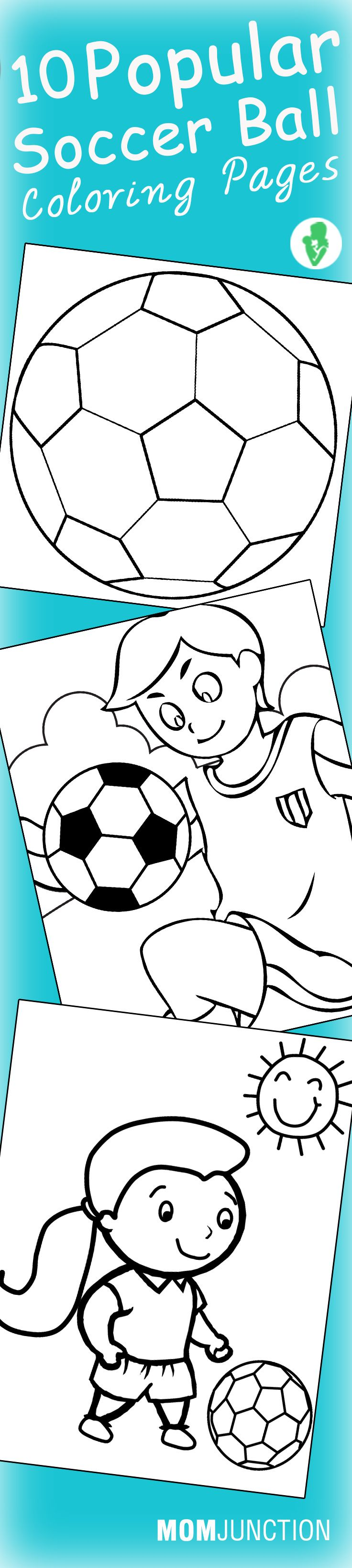 Soccer Ball Coloring Pages - Free Printables | Pinterest | Soccer ...