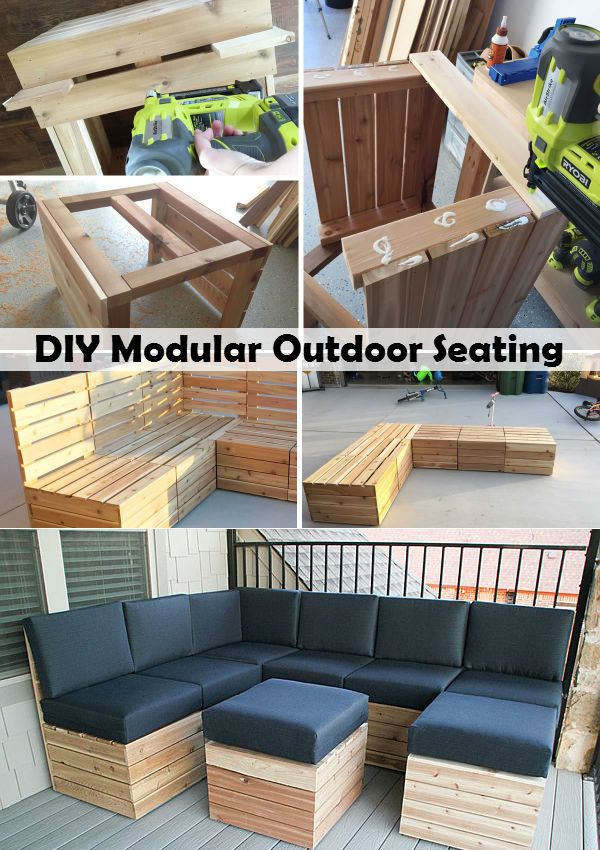 Attirant DIY Modular Outdoor Seating | For The Home | Outdoor Seating, Pallet  Furniture, Outdoor