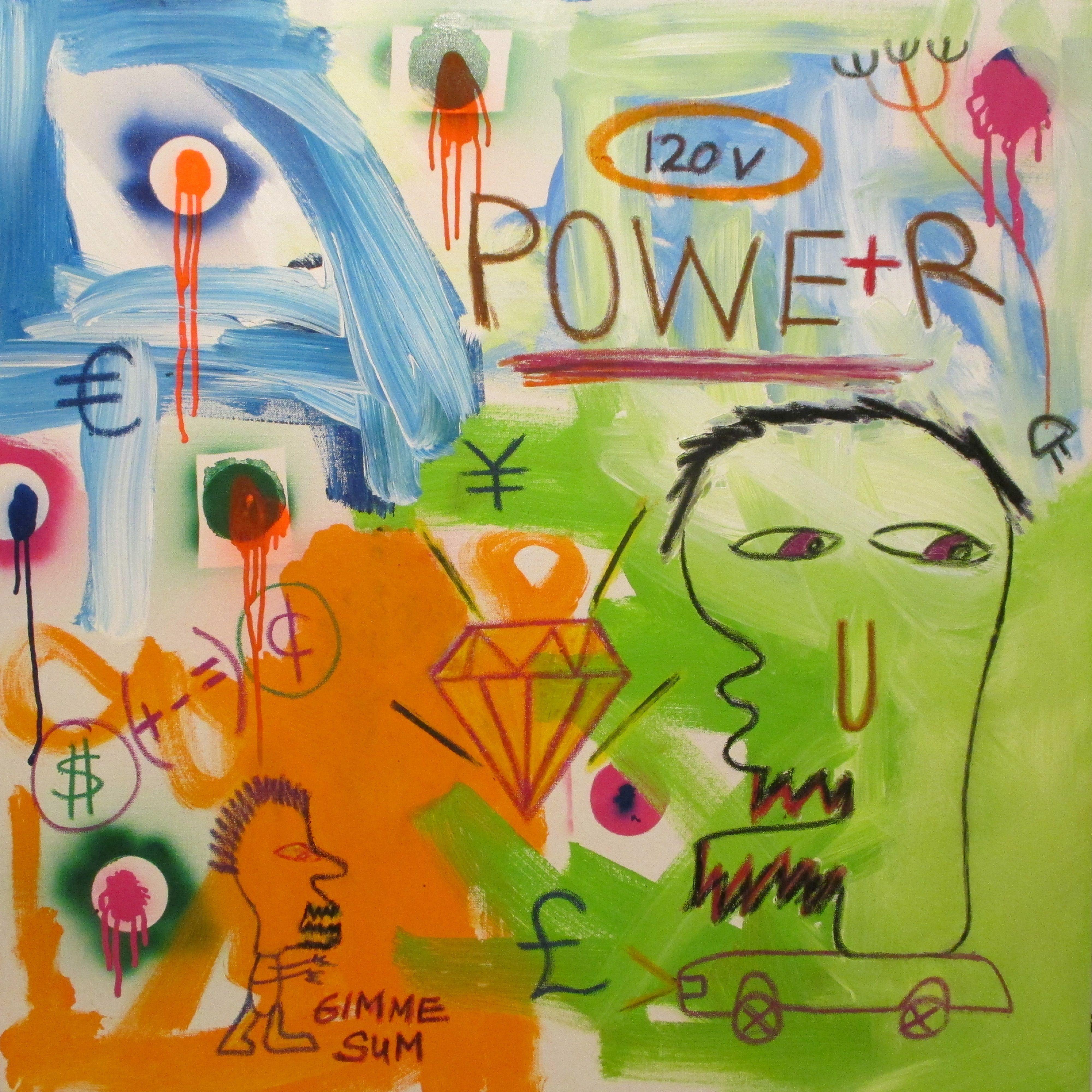 Power Gimme Sum Painting Art Pop Art Painting