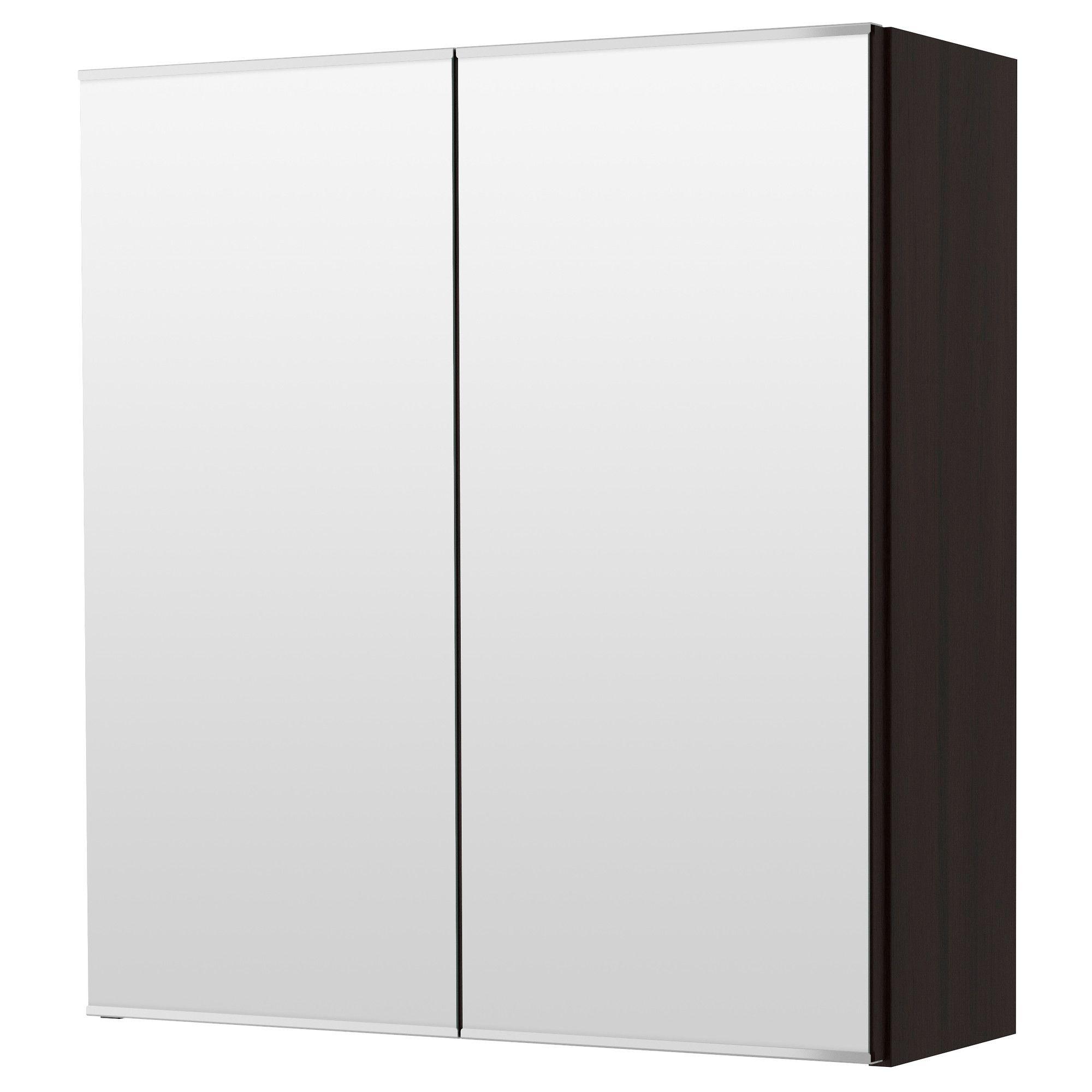 lill ngen meuble miroir 2 portes brun noir brun noir ikea brun et miroirs. Black Bedroom Furniture Sets. Home Design Ideas
